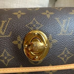 Authentic LV  monogram small leather  bag *New*
